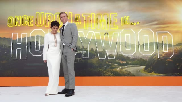 helen mccrory and damian lewis attend 'once upon a time in hollywood' uk premiere at the odeon luxe leicester square on july 30 2019 in london england - luxury stock videos & royalty-free footage