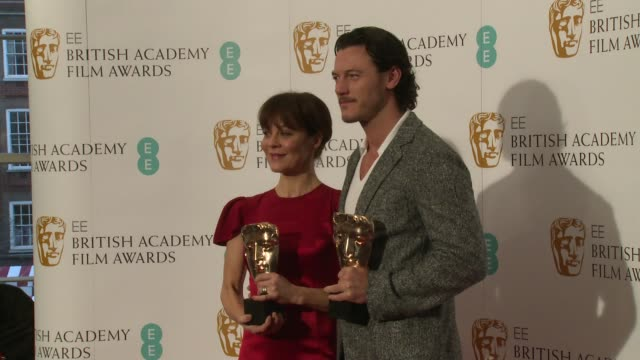 helen mccrory and luke evans at the ee british academy film awards nominations at bafta on january 8, 2014 in london, england. - ヘレン マックローリー点の映像素材/bロール