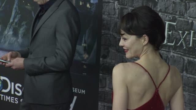 helen mccrory at the launch event for the home entertainment release of harry potter and the deathly hallows- part 1 at new york ny. - ヘレン マックローリー点の映像素材/bロール