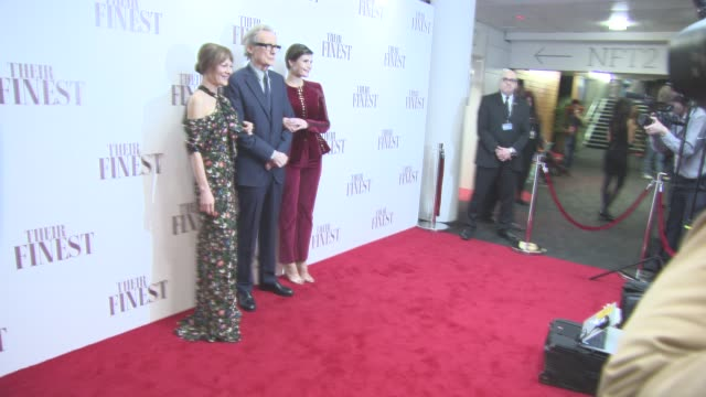 helen mccrory, bill nighy, gemma arterton at 'their finest' - premiere at bfi southbank on april 12, 2017 in london, england. - bfi southbank stock videos & royalty-free footage