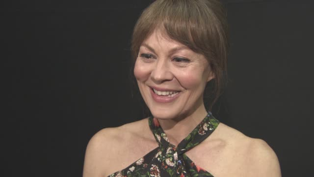 helen mccrory on her agents, on bill nighy character, his age, being sexy, the writing, female writers at 'their finest' - premiere at bfi southbank... - ヘレン マックローリー点の映像素材/bロール