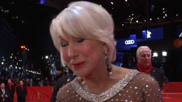 helen mirren, actress, on how she continues to look good, plus the difference in glamour between the berlin and cannes film festival 70th berlin... - helen mirren stock videos & royalty-free footage