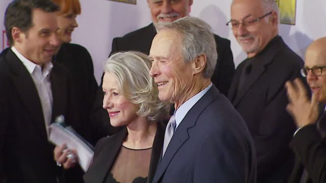 helen mirren and clint eastwood at the broadcast film critics association's 2007 critic's choice awards at santa monica civic auditorium in santa... - broadcast film critics association stock videos & royalty-free footage
