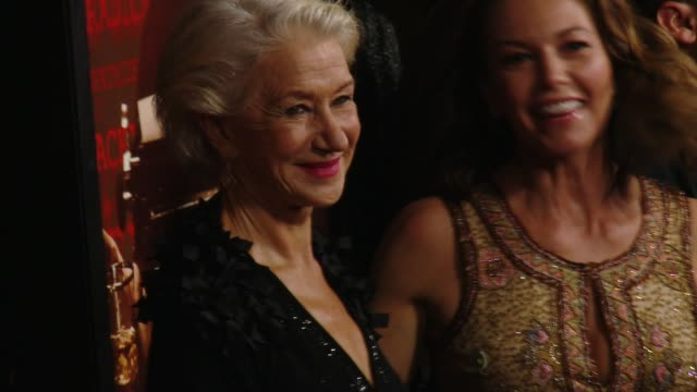 helen mirren and diane lane at the trumbo los angeles premiere at the academy of motion picture arts and sciences on october 27 2015 in beverly hills... - academy of motion picture arts and sciences stock-videos und b-roll-filmmaterial