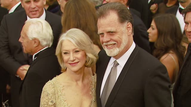 helen mirren and taylor hackford at the 2007 academy awards arrivals at the kodak theatre in hollywood, california on february 25, 2007. - helen mirren stock videos & royalty-free footage