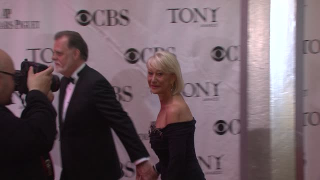 Helen Mirren and Taylor Hackford at the 64th Annual Tony Awards at New York NY