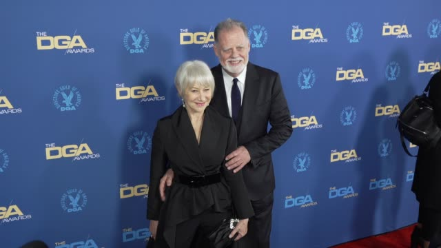 helen mirren and taylor hackford at the 71st annual dga awards at the ray dolby ballroom at hollywood highland center on february 02 2019 in... - director's guild of america stock videos & royalty-free footage