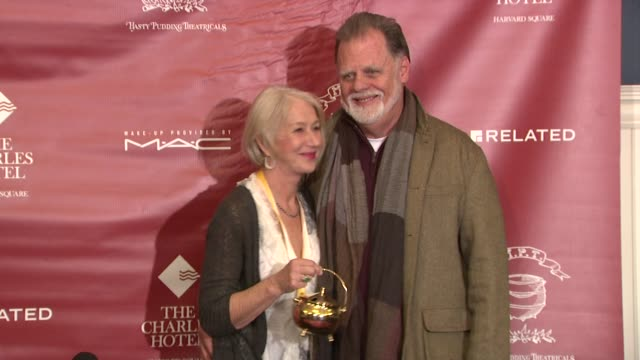 helen mirren and taylor hackford at the hasty pudding theatricals honor helen mirren as 2014 woman of the year on january 30, 2014 in boston,... - helen mirren stock videos & royalty-free footage