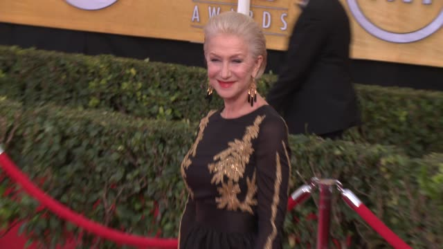 helen mirren at 20th annual screen actors guild awards - arrivals at the shrine auditorium on in los angeles, california. - helen mirren stock videos & royalty-free footage