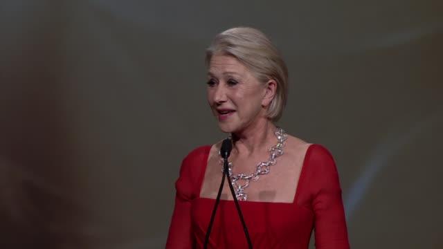 SPEECH Helen Mirren at 24th Annual Palm Springs International Film Festival Awards Gala on 1/5/13 in Los Angeles CA