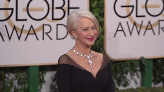Helen Mirren at 73rd Annual Golden Globe Awards Arrivals at The Beverly Hilton Hotel on January 10 2016 in Beverly Hills California 4K