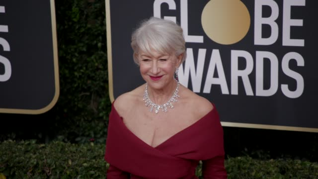 helen mirren at 77th annual golden globe awards at the beverly hilton hotel on january 05, 2020 in beverly hills, california. - helen mirren stock videos & royalty-free footage