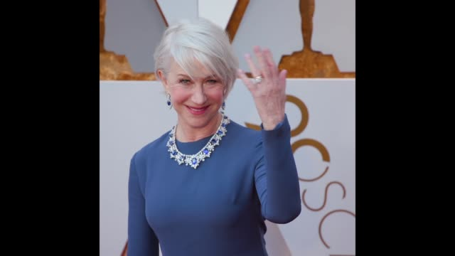 gif helen mirren at 90th academy awards arrivals - 90th annual academy awards stock videos & royalty-free footage
