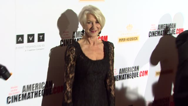 helen mirren at american cinematheque's 27th annual award presentation honoring jerry bruckheimer in beverly hills ca on - american cinematheque stock videos & royalty-free footage