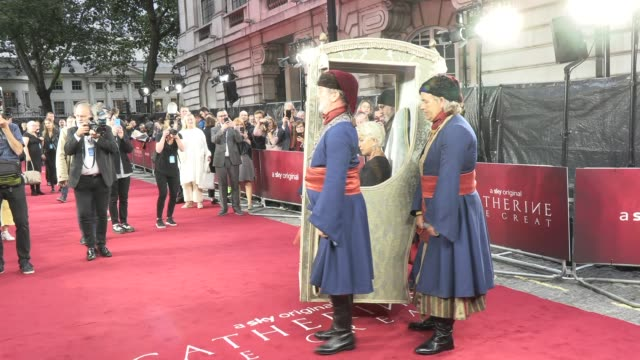 helen mirren at catherine the great - uk tv premiere at the curzon mayfair on september 25, 2019 in london, england. - helen mirren stock videos & royalty-free footage