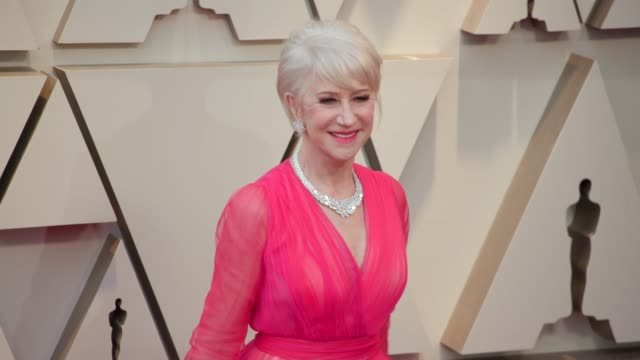 helen mirren at dolby theatre on february 24, 2019 in hollywood, california. - helen mirren stock videos & royalty-free footage