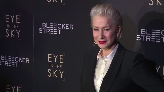 """helen mirren at """"eye in the sky"""" new york premiere at amc loews lincoln square 13 theater on march 9, 2016 in new york city. - helen mirren stock videos & royalty-free footage"""