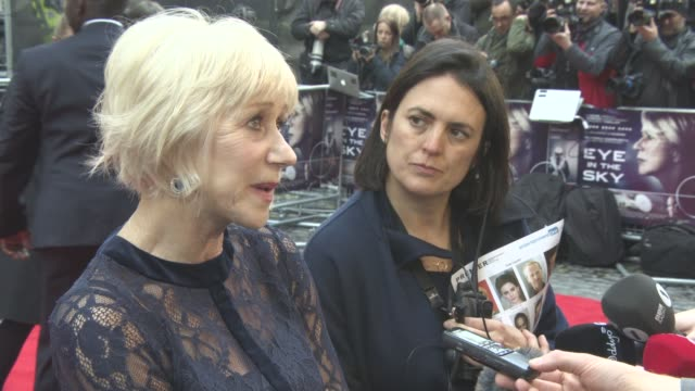 Helen Mirren at Eye in the Sky Premiere at The Curzon Mayfair on April 11 2016 in London England