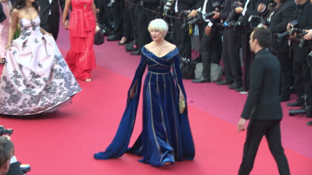 helen mirren at 'girls of the sun' red carpet arrivals - the 71st cannes film festival at grand theatre lumiere on may 12, 2018 in cannes, france. - helen mirren stock videos & royalty-free footage