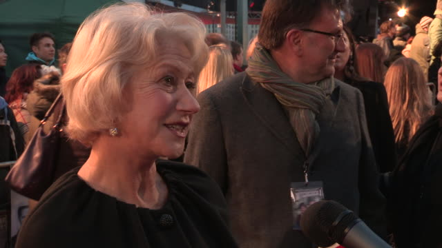 helen mirren at 'hitchcock' uk premiere at bfi southbank on december 09 2012 in london england - bfi southbank stock videos & royalty-free footage