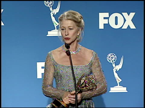 helen mirren at the 1999 emmy awards press room at the shrine auditorium in los angeles california on september 12 1999 - emmy awards stock videos & royalty-free footage