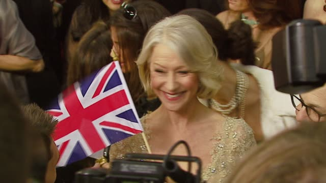 helen mirren at the 2007 academy awards arrivals at the kodak theatre in hollywood, california on february 25, 2007. - helen mirren stock videos & royalty-free footage
