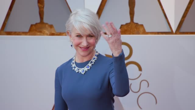 helen mirren at the 90th academy awards arrivals at dolby theatre on march 04 2018 in hollywood california - 90th annual academy awards stock videos & royalty-free footage