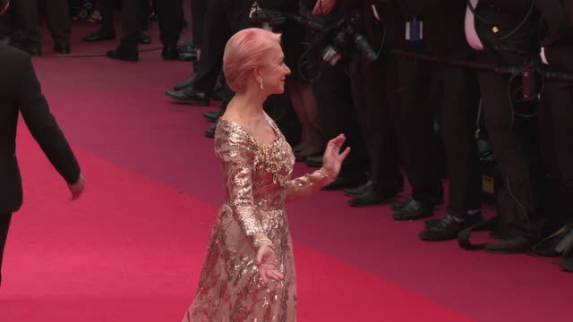 helen mirren at 'the best years of a life ' red carpet arrivals - the 72nd cannes film festival on may 18, 2019 in cannes, france. - red carpet event stock videos & royalty-free footage