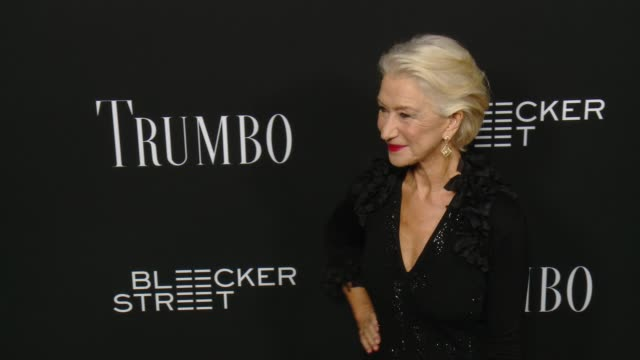 helen mirren at the trumbo los angeles premiere at the academy of motion picture arts and sciences on october 27 2015 in beverly hills california - academy of motion picture arts and sciences stock-videos und b-roll-filmmaterial
