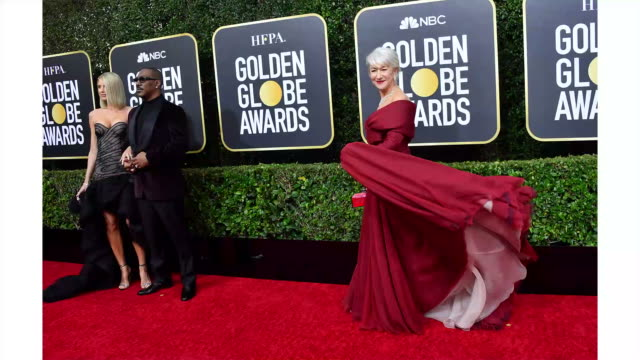 vidéos et rushes de helen mirren attends the 77th annual golden globe awards at the beverly hilton hotel on january 05, 2020 in beverly hills, california. - golden globe awards