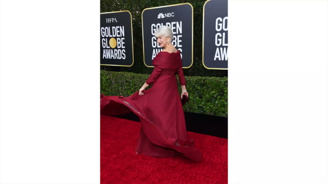 helen mirren attends the 77th annual golden globe awards at the beverly hilton hotel on january 05, 2020 in beverly hills, california. - golden globe awards stock videos & royalty-free footage