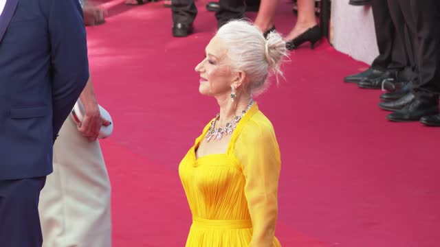 """helen mirren attends the """"annette"""" screening and opening ceremony during the 74th annual cannes film festival on july 6, 2021 in cannes, france. - helen mirren stock videos & royalty-free footage"""