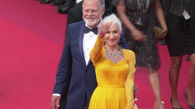 """helen mirren attends the """"annette"""" screening and opening ceremony during the 74th annual cannes film festival on july 06, 2021 in cannes, france. - helen mirren stock videos & royalty-free footage"""