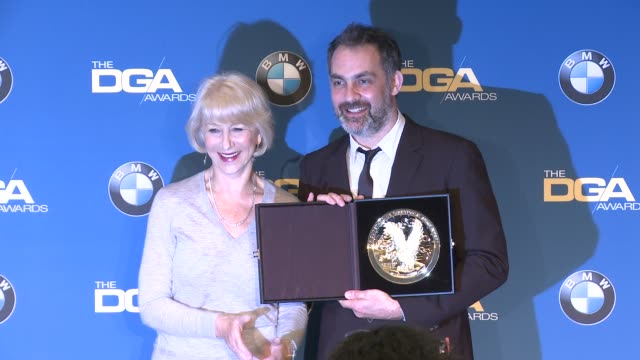 helen mirren miguel sapochnik at 69th annual directors guild of america awards in los angeles ca - directors guild of america awards stock videos & royalty-free footage