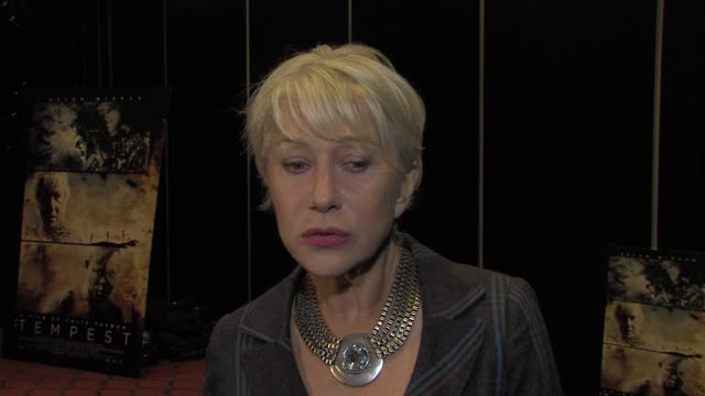 helen mirren on difference between film and theatre, on visual effects, on shakespeare and on playing the tempest on stage at the the tempest special... - helen mirren stock videos & royalty-free footage