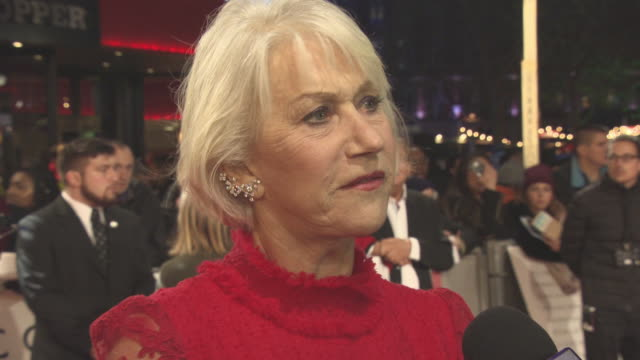 vidéos et rushes de helen mirren on love, the message of the film, her character and the cast at 'collateral beauty' - uk film premiere at vue leicester square on... - helen mirren