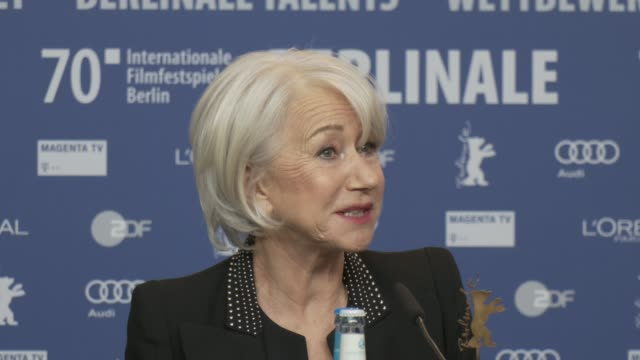 helen mirren on making the movie caligula and how at the time it was viewed as a pornographic movie at 'honorary golden bear / homage helen mirren'... - arts culture and entertainment stock videos & royalty-free footage