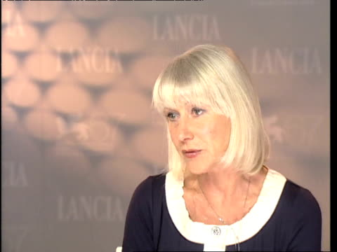 Helen Mirren on the appeal of Shakespeare in modern times at the The Tempest Interviews 67th Venice Film Festival at Venice
