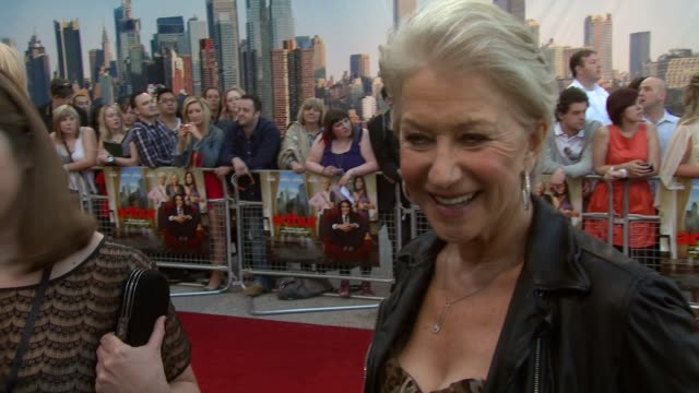 Helen Mirren on the experience of making the movie on Russell Brand at the Arthur European Premiere at London England