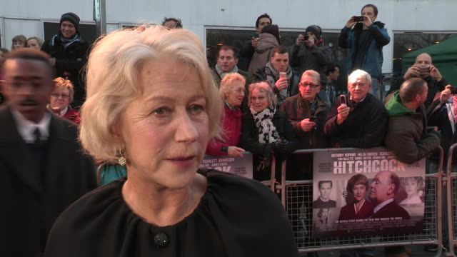 helen mirren on the hitchcock films that she has watched and on the plot at 'hitchcock' uk premiere at bfi southbank on december 09 2012 in london... - bfi southbank stock videos & royalty-free footage