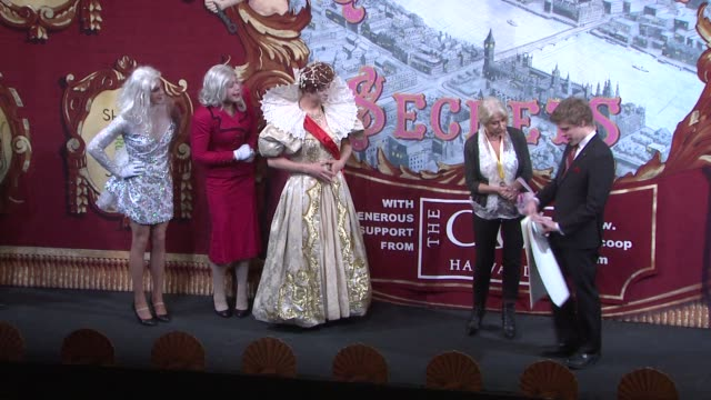 Helen Mirren plays charades The Hasty Pudding Theatricals Honor Helen Mirren as 2014 Woman of the Year on January 30 2014 in Boston Massachusetts