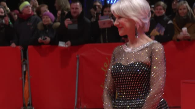 helen mirren poses at the homage helen mirren honorary golden bear award ceremony during the 70th berlinale international film festival berlin at... - film award type stock videos & royalty-free footage