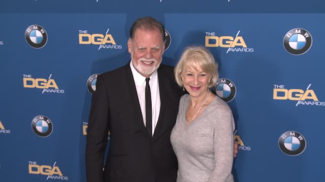 helen mirren taylor hackford at 69th annual directors guild of america awards in los angeles ca - directors guild of america awards stock videos & royalty-free footage