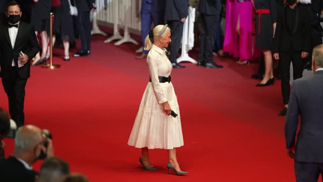 """helen mirren, taylor hackford attends the """"the velvet underground"""" screening during the 74th annual cannes film festival on july 7, 2021 in cannes,... - helen mirren stock videos & royalty-free footage"""