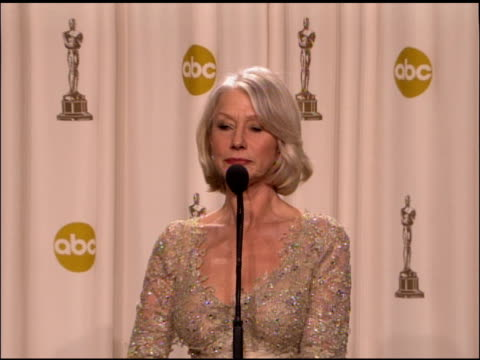 helen mirren, winner best actress in a leading role for �the queen� at the 2007 academy awards at the kodak theatre in hollywood, california on... - helen mirren stock videos & royalty-free footage