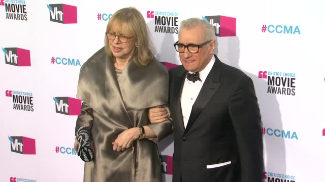 Helen Morris Martin Scorsese at 17th Annual Critics' Choice Movie Awards on 1/12/12 in Hollywood CA