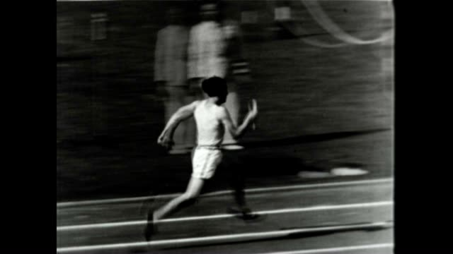 helen stephens wins the gold at the berlin olympics - 1936 stock videos & royalty-free footage