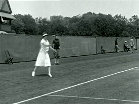 helen wills playing in tennis match / documentary - 1923 stock videos & royalty-free footage