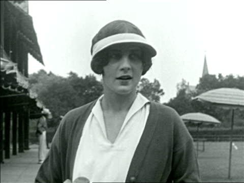 helen wills talking after winning tennis match / documentary - 1923 stock videos & royalty-free footage