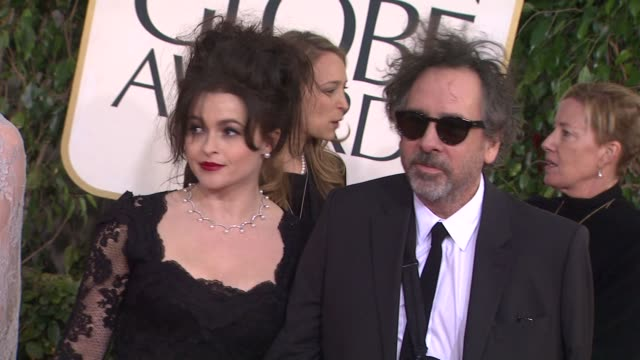 Helena Bonham Carter and Tim Burton at the 70th Annual Golden Globe Awards Arrivals in Beverly Hills CA on 1/13/13